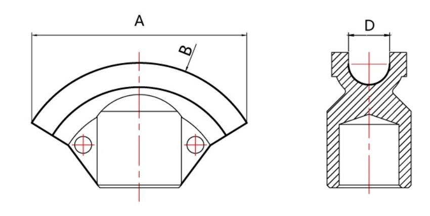 Cấu tạo khuôn uốn của máy uốn ống thủy lực sê-ri HHW-3D