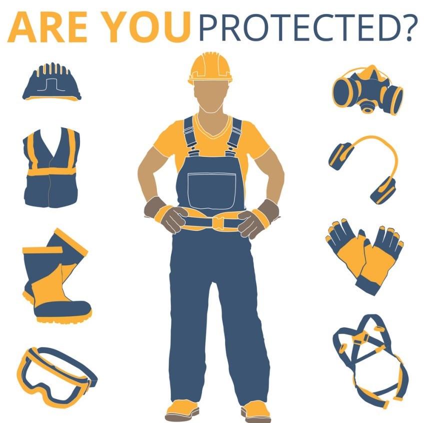 Trang bị dụng cụ bảo hộ để đảm bảo an toàn cho bản thân