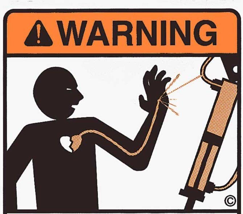 Cần cẩn thận khi làm việc với máy uốn ống thủy lực