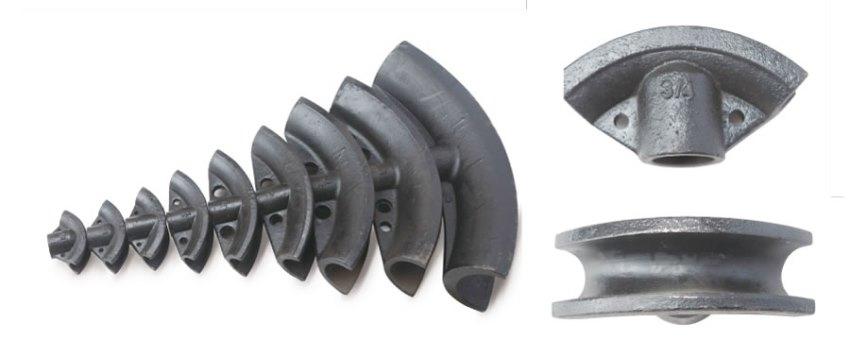 Hình ảnh về khuôn uốn của máy uốn ống thủy lực sê-ri HHW-3D